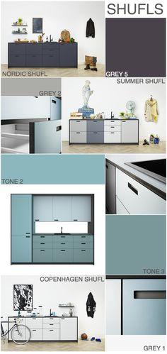 og flere fronter, der fungerer sammen med IKEA's moduler...