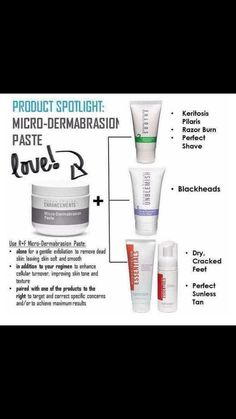 The microdermabrasion paste is a great product for multiple skin issues. I use mine in addition to my Unblemish regimen. How could you benefit from this amazing product? Message me to find out! bross1.myrandf.com
