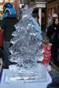 Christmas Ice Sculptures | Christmas Tree Ice Sculpture