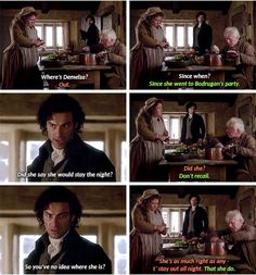 """You've no idea where she is?"" - Jud and Prudie dragging Ross #Poldark"