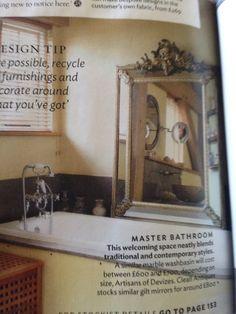 Mirror over bath beautiful Fired Earth, Laura Ashley, Master Bathroom, Bathrooms, Recycling, Curvy, Artisan, Traditional, Contemporary