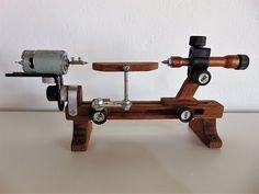 Mini torno para madeira - Mini wood lathe - YouTube