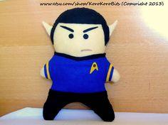 Star Trek, Spock- Leonard Nimoy/ Zachary Quinto Plush Doll $34