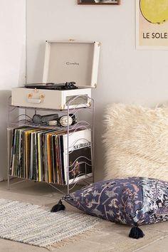 audio room audiophile vinyl storage V - audioroom Vinyl Record Storage Shelf, Storage Shelves, Vinyl Record Display, Vinyl Shelf, Crate Shelves, Storage Hacks, Room Decor Bedroom, Dorm Room, Bedroom Ideas