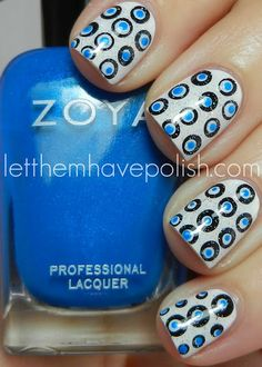 Dots with Zoya Nail Polish in Tallulah