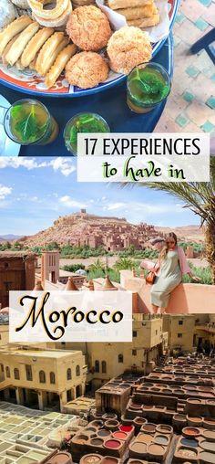 17 Experiences to have in Morocco | Things to do in Morocco | Morocco Bucket List | What to do in Morocco | Moroccan Experiences | Things to do in Morocco | Fez, Morocco | Meknes, Morocco | Casablanca, Morocco | Marrakech, Morocco | Sahara Camping | Camel Rides in Morocco |