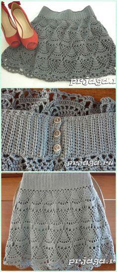 Crochet Short Skirt Free Pattern- Crochet Women Skirt Free Patterns