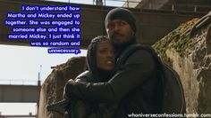 """What?? I loved that they ended up together! Micky deserved Martha and vice versa. It was good not """"random and unnecessary"""""""
