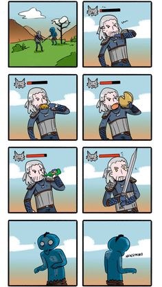 The Witcher 3 in a nutshell – The Witcher Series The Witcher Wild Hunt, The Witcher Game, The Witcher Geralt, The Witcher Books, Witcher Art, Gamer Humor, Gaming Memes, Witcher Wallpaper, Videogames