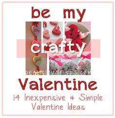 14 Inexpensive and Easy Valentine Ideas Valentines Food, Valentine Ideas, Valentine Day Crafts, Holiday Crafts, Holiday Ideas, Holiday Decor, 4th Of July, February, Food Ideas