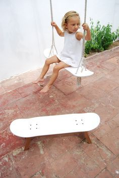 stool and swing with skateboard by SKATE-HOME. Pure skateboarding.