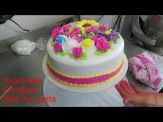 Pastel de flores y rosas, sencillamente hermoso. - YouTube