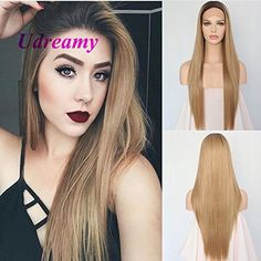 Udreamy Straight Synthetic Lace Front Wig Ombre Brown To ... https://www.amazon.com/dp/B071G9VHDH/ref=cm_sw_r_pi_dp_x_GFiXzbPZVT07M