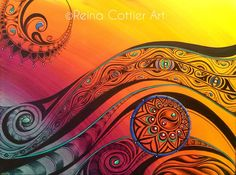Tribal Flow Art Print by Reina Cottier. All prints are professionally printed, packaged, and shipped within 3 - 4 business days. Choose from multiple sizes and hundreds of frame and mat options. Maori Designs, Celtic Designs, Spirals In Nature, Types Of Drawing, Flow Painting, Thing 1, Flow Arts, Maori Art, Angel Art