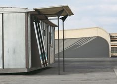 Metropole aluminum house, ca. 1949, metal aluminum and wood 8x12 m, 26,2x 39,4 feet rebuilt on the test track atop the Lingotto, Turin, Italy photo Courtesy of Galerie Patrick Seguin