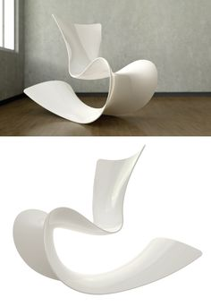 Mamma Rocking Chair by Patrick Messier: Fiberglass with high gloss urethane finish.