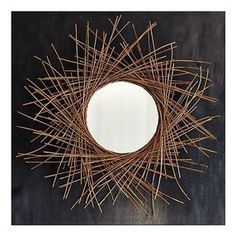 Amazing wall mirror mixed with wood great products for Miroir 40x40