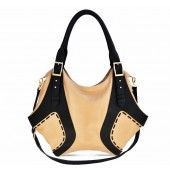Grandisimo Tote in Black and Tan Leather