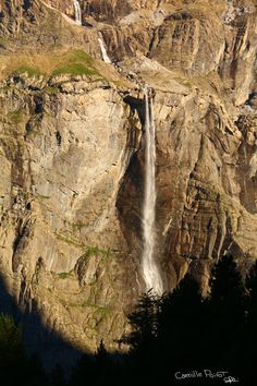 """La Grande Cascade"", photo by Camille Poirot : grande cascade de Gavarnie (plus haute chute d'Europe 423m), France."