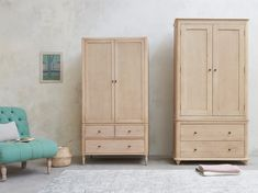 Want the perfect combo of drawers and hanging space? Our Valentine wardrobe is hand-crafted from solid oak so you can pass it on to the loafers of the future! Comfy Sofa, Clothing Storage, Spring Cleaning, Solid Oak, Storage Solutions, Armoire, Drawers, Flooring, Furniture