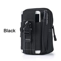 a7a5cd779a Universal Outdoor Tactical Holster Military Molle Hip Waist Belt Bag Wallet  Pouch Purse Phone Case with Zipper for iPhone 7  LG