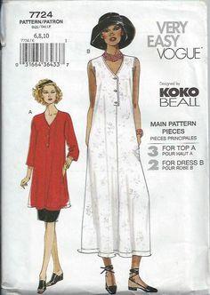 Vogue 7724 Koko Beall Dress Top and Skirt by DawnsDesignBoutique, $10.99
