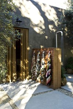 an Interior Designer's Ultra-Cool Malibu Farmhouse Outdoor shower by Alexander Design. Actually pretty simple to make and outdoor shower.Outdoor shower by Alexander Design. Actually pretty simple to make and outdoor shower.