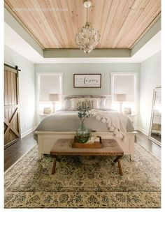Rustic Master Bedroom Rustic Farmhouse Master Bedroom – a budget friendly affordable dreamy bedroom Farmhouse Master Bedroom, Master Bedroom Makeover, Bedroom Rustic, Master Bedrooms, Master Bedroom Wood Wall, Rustic Master Bedroom Design, Country Cottage Bedroom, Modern Rustic Bedrooms, Farm Bedroom