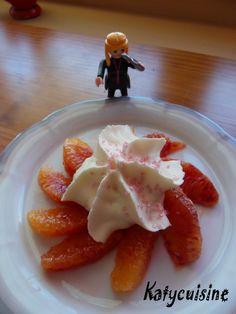 Dessert mousse au chocolat blanc-orange sanguine