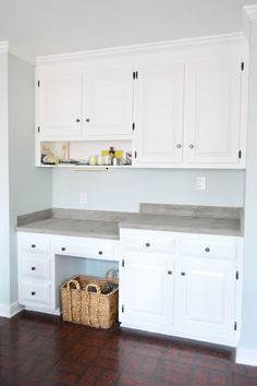 concrete counters over laminate....Trying Our Hand At Ardex Concrete Counters | Young House Love