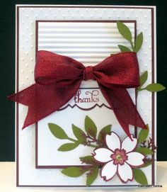 Crooked Card Creations - I need bow lessons.  Her bows are perfect every time.