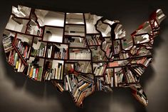 """USA 50 States """"Oh, The Farmer & The Cowman Should Be Friends"""" Bookcase by Ron Arad"""