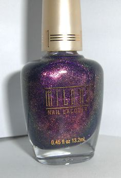 Milani Nail Polish Nail Laquer TOTALLY COOL dark purple glitter rare HTF NEW