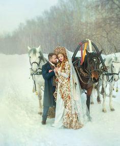 Свадьба в Русском стиле – 17 фотографий