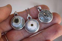 Sterling silver ocean jasper necklace. She believed in the trees by Ashley Weber www.ashleyweber.etsy.com