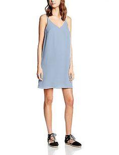 14, Blue (Light blue), New Look Women's Plain Cami Slip Sleeveless Dress NEW