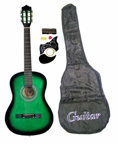 38 PURPLE Student Acoustic Guitar Starter Package Guitar Gig Bag Strap DirectlyCheapTM Translucent Blue Medium Guitar Pick -- Click image for more details. Guitar Kits, Guitar Bag, Guitar Songs, Blue Acoustic Guitar, Purple Guitar, Bass Guitars For Sale, Thing 1, Guitar Lessons, Musical Instruments