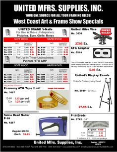 """Our West Coast Art and Frame Show Specials!!   Use Promo Code """"LV2013""""  Sale Expires 02/03/2013.   Show Flyer will be available on our Website."""