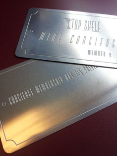 Etched metal business cards!