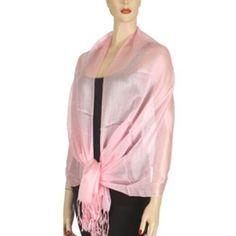 Light Pink Long Simple Wide Georgette Shawl Wrap Luxury Divas. $13.99