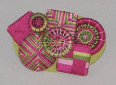 Brooch made from Dorset and other thread-wrapped buttons. Emma Lulu - Four Generations of Needlewomen: Dorset Buttons.