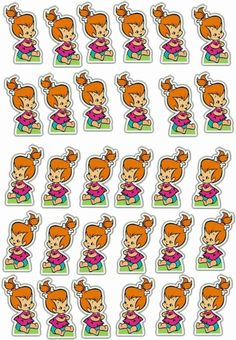 Classic Cartoon Characters, Classic Cartoons, 1st Birthday Party Themes, Girl Birthday, Baby Shower Parties, Baby Shower Themes, Pebbles And Bam Bam, Pebbles Flintstone, Baby Cards