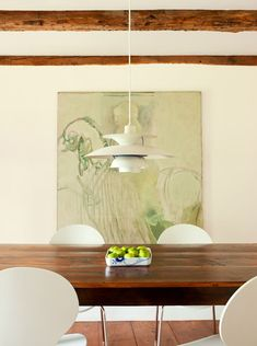 I like the soft tone on tone drippings of the lady godiva painting. Too bad you can't see all of it. From Sisse Jonassen's house