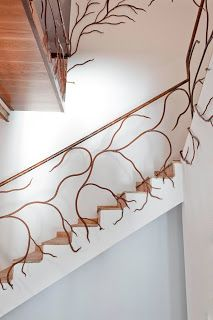 Plant-like staircase railing...would it work outside too?
