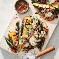 Vegetarian Recipes Dinner, Veggie Recipes, Dinner Recipes, Weeknight Recipes, Pizza Recipes, Healthy Grilling, Grilling Recipes, Cooking Recipes, Martha Stewart Recipes