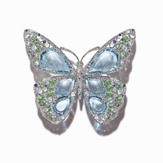 Tiffany aquamarine, diamond, moonstone, tsavorite and sapphire brooch from the 2015 Blue Book collection