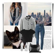 """Без названия #308"" by blacksky000 ❤ liked on Polyvore featuring Chicnova Fashion, Yves Saint Laurent, Alice + Olivia, adidas and Kara"