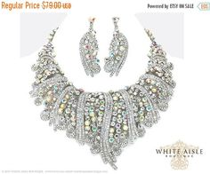 ON SALE Bridal Jewelry Set Bridal Statement by WhiteAisleBoutique