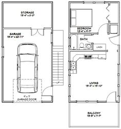 16x32 Tiny House -- #16X32H9B -- 647 sq ft - Excellent Floor Plans