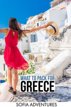 Essential Greece Packing List: What to Wear & Pack for Greece This Greece packing list covers mainland or islands, summer or winter - plus tips on what to wear in Greece for women or men and exactly what to pack! Greece Honeymoon, Greece Vacation, Greece Travel, Greece Trip, Honeymoon Outfits, Cruise Outfits, Travel Outfits, Travel Outfit Summer, Summer Outfits